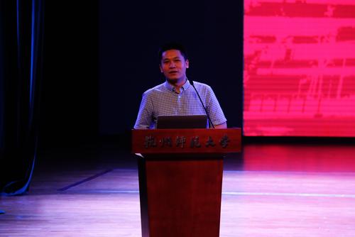 黨委副書記管慶江發表講話